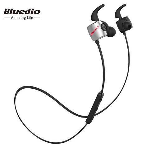 Бездротові навушники (гарнітура) Bluedio TE Black, фото 2