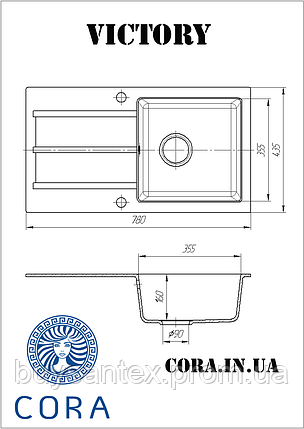 Кухонная мойка Cora - Victory Ivory, фото 2