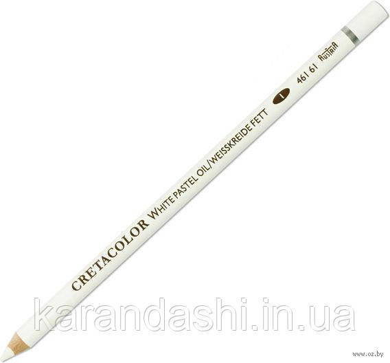 Карандаш для рисунка, Белый масляный мягкий, Cretacolor 46161