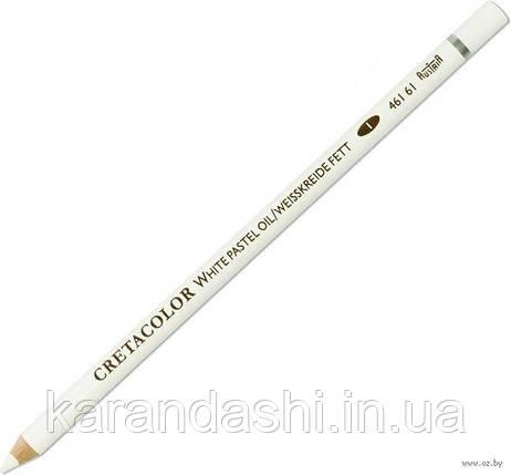 Карандаш для рисунка, Белый масляный мягкий, Cretacolor 46161, фото 2