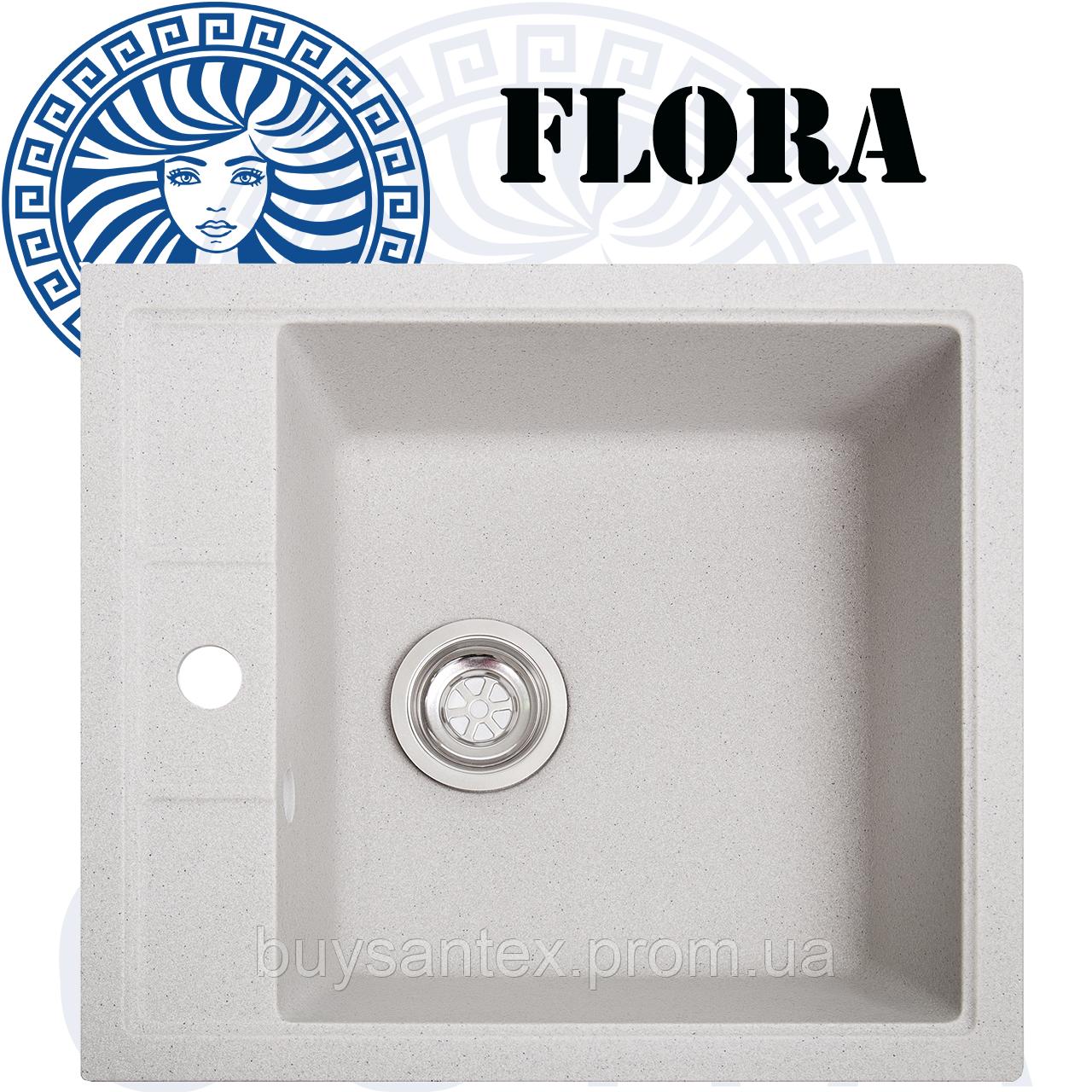 Кухонная мойка Cora - Flora Ivory