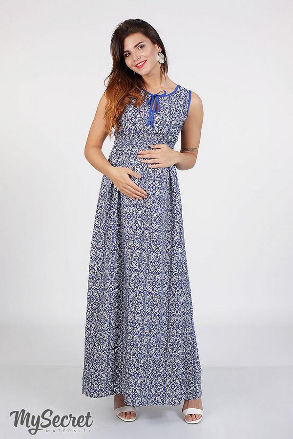 5a1bb91f3a1b33 Длинный сарафан для беременных и кормящих KATHLEEN, марокко, фото 1
