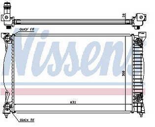 Радиатор охлаждения Ауди Audi A4(01-04)B6, фото 2