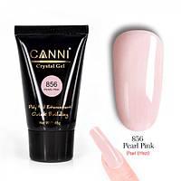 Полигель Canni жемчужно розовый с микроблеском