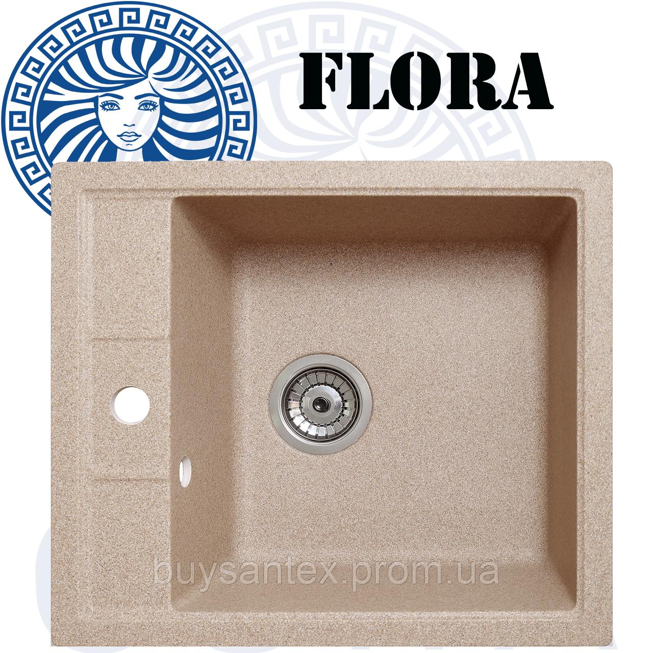 Кухонная мойка Cora - Flora Sand