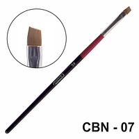 Кисть для геля со скошенным срезом CBN-07