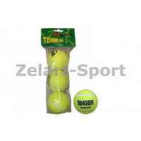 Мяч для большого тенниса TELOON (3шт) T801 (в пакете)