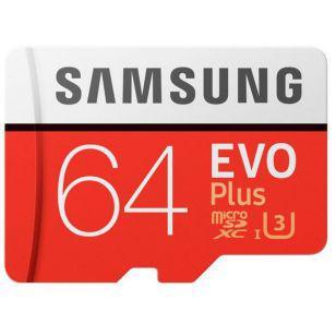 Samsung microSDXC 64GB EVO PLUS UHS-I U3 (R100, W60MB/s)