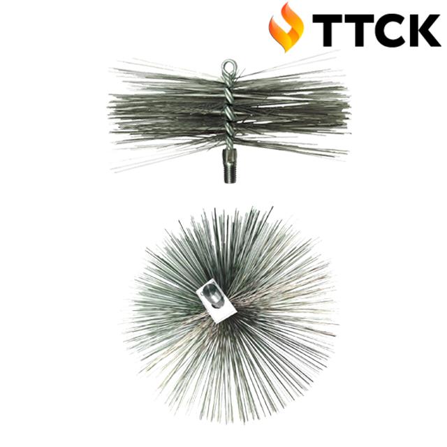 Металева щітка для чищення димоходу ЛЮКС ∅ 450 мм