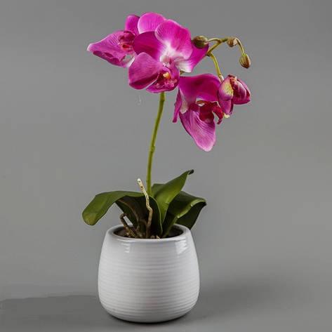 Орхидея (силикон).фиолетовая, фото 2