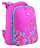 Ранец школьный жестко-каркасный для девочки H-12 Butterfly rose, 38*29*15 , YES