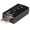 USB звуковая карта 3D Sound card 7.1 внешняя, фото 2