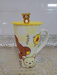 """Чашка детская с силиконовой крышкой """"Rilakkuma"""""""