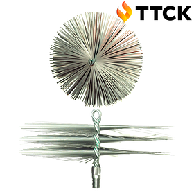 Щетка металлическая плоская для чистки дымохода ЛЮКС 125 мм