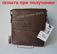 Мужская кожаная фирменная сумка барсетка Lead hake классика купить, фото 1
