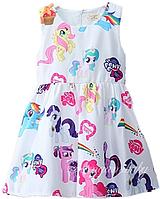 Белое детское платье My little Pony