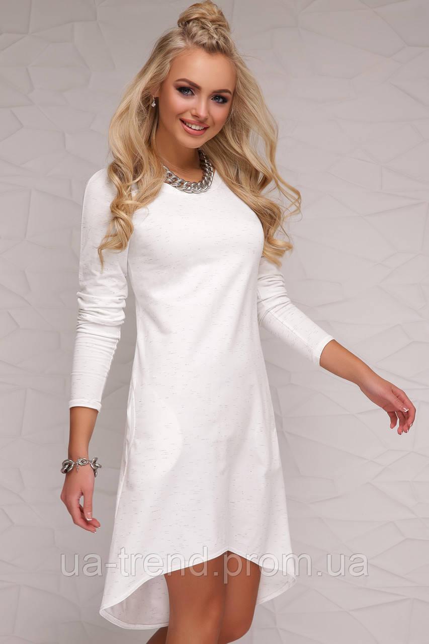 045c51c42ca Белое Трикотажное Платье Удлиненное Сзади — в Категории