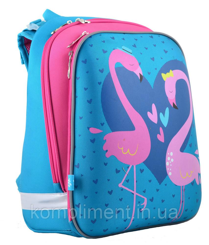 Ранец школьный жестко-каркасный ортопедический  H-12 Flamingo,  38*29*15 , YES