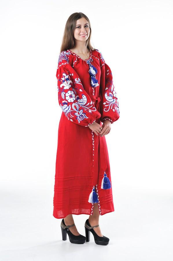 Сукня вишита Gua Птахи M червона (3203-M)