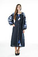 Сукня вишита Gua Птахи XL синя (3204-XL), фото 1