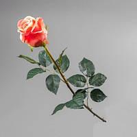 Искусственный цветок розовая роза (силикон).