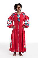 Сукня вишита Gua Світанок XL червона (2121-XL), фото 1