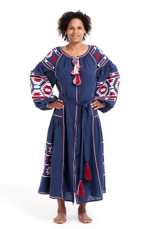 Сукня вишита Gua Софія XL синя (2122-XL)