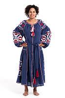 Сукня вишита Gua Софія XL синя (2122-XL), фото 1