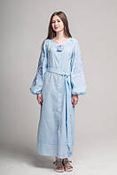 Сукня вишита Gua Ружа з поясом L блакитна (1842-L), фото 1