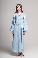 Сукня вишита Gua Ружа з поясом XL блакитна (1842-XL), фото 1