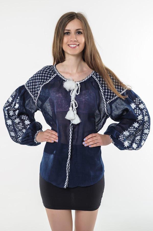 Блуза вишита Gua Зоряна ніч M синя (1102-M)