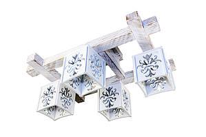 Люстры с деревянными плафонами. Плафоны можно установить практически на все виды люстр, под заказ. Материал плафона - МДФ плита.
