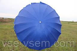 Зонт торговый (пляжный) с серебряным напылением, 16 спиц, диаметр 3 м.