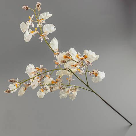 Искусственный цветок орхидея белая (силикон)., фото 2