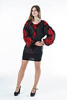 Блуза вишита Gua Бохо XL чорна (1105-XL), фото 1