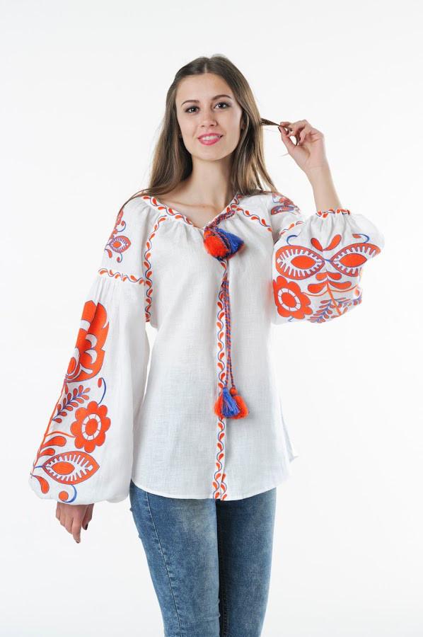 Блуза вишита Gua Бохо XL біла (1106-XL)