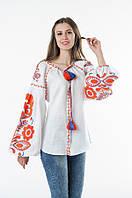 Блуза вишита Gua Бохо XL біла (1106-XL), фото 1