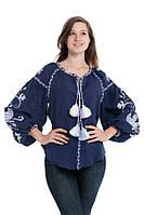 Блуза вишита Gua Птахи L синя (3108-L), фото 1