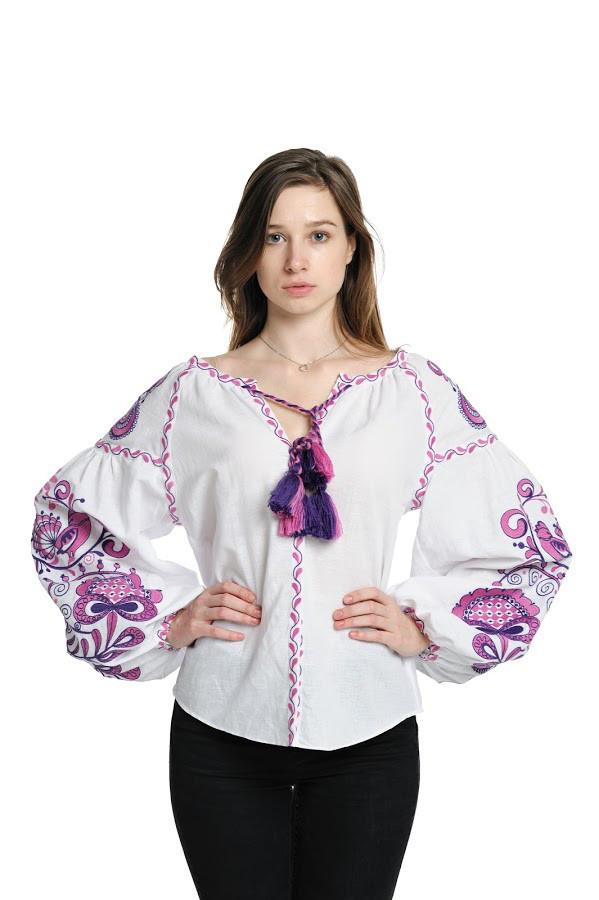 Блуза вишита Gua Дерево Життя L біла (3202-L)