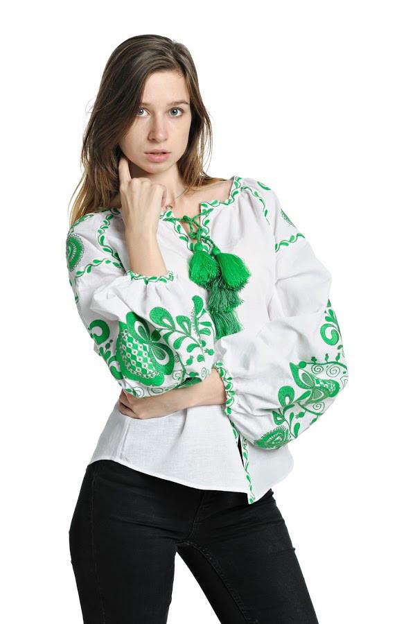 Блуза вишита Gua Дерево Життя XL біла (3203-XL)