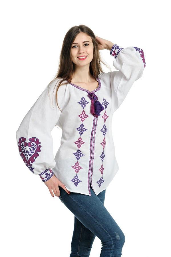Блуза вишита Gua Серце S біла (1152-S)