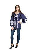 Блуза вишита Gua Серце L синя (1153-L), фото 1