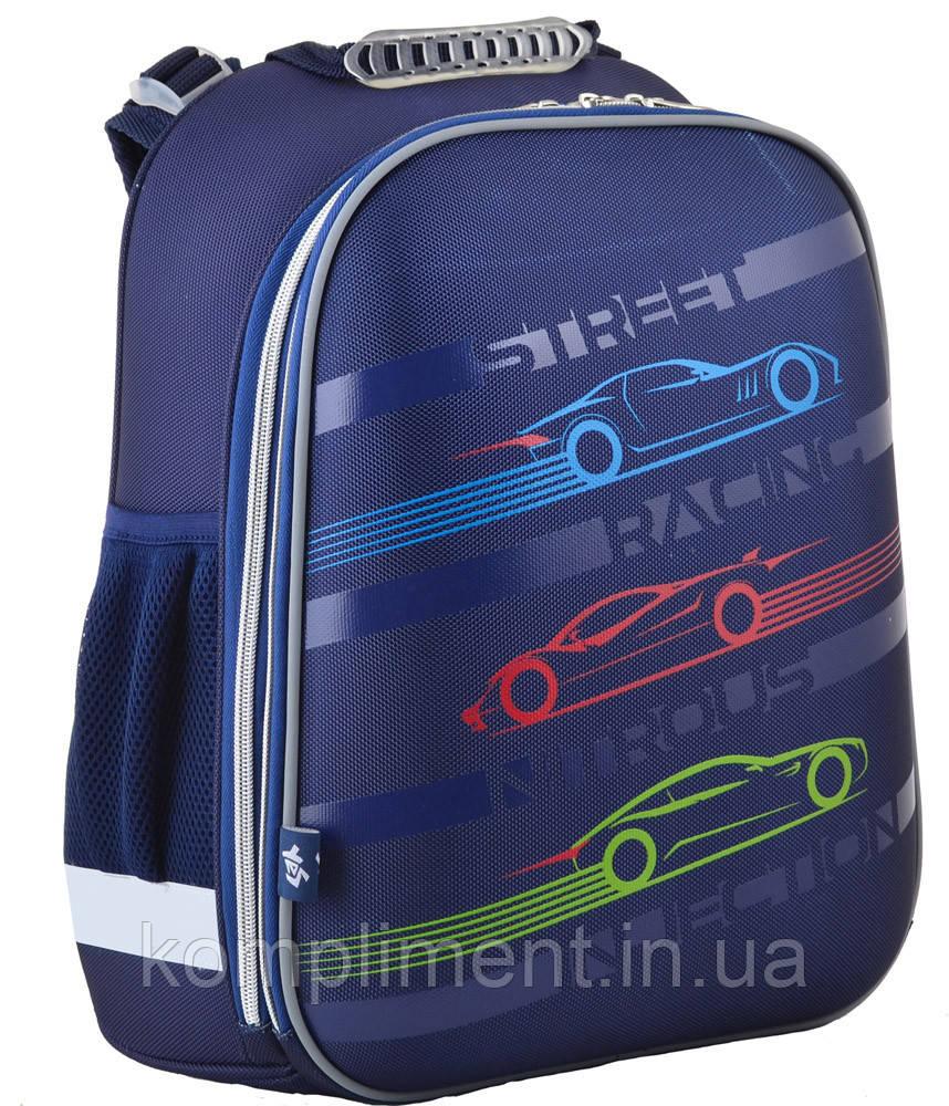 Ранець шкільний жорстко-каркасний для хлопчика H-12 Car, 38*29*15 , YES