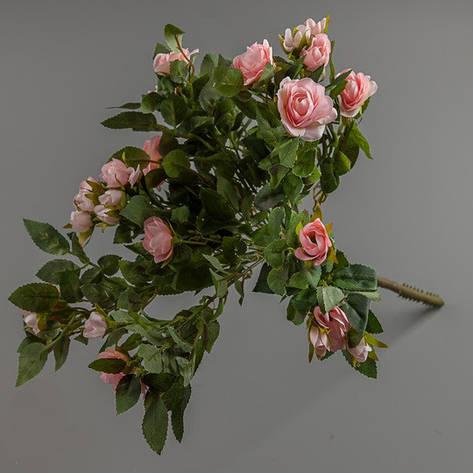 Букет искусственных розовых роз., фото 2