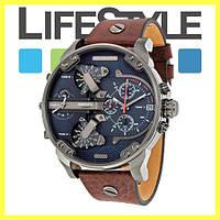 Элитные мужские часы Diesel Brave Коричневые