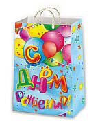 Подарочные пакеты для детей размер 38 х 24 см (12 шт./уп.), фото 1