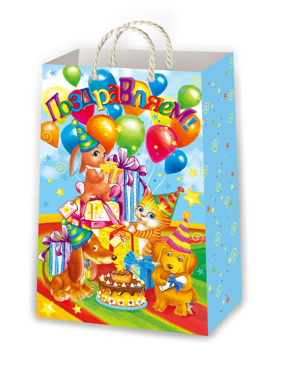 Подарочные пакеты для детей размер 38 х 24 см (12 шт./уп ...