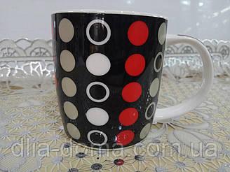 Чашка 360мл Червоне і Чорне