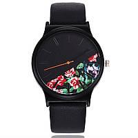 Женские часы Flowers с принтом