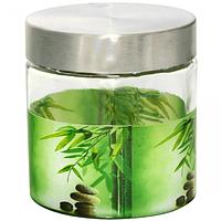 Емкость для сыпучих продуктов 0.9л Зеленый бамбук SNT 606